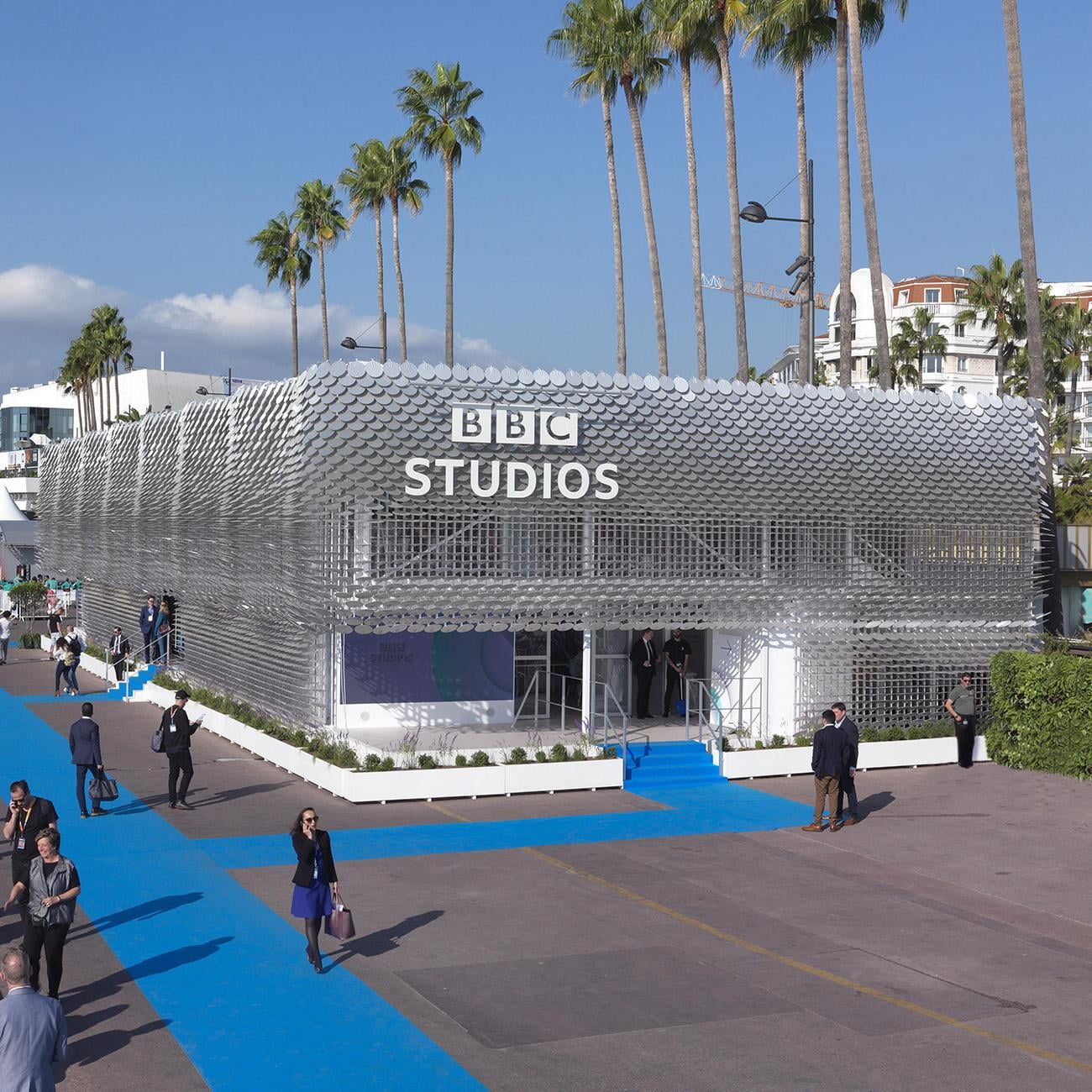 BBC Studios pavilion, built by Stage One for Cheerful Twentyfirst, legal authorisations by RETS