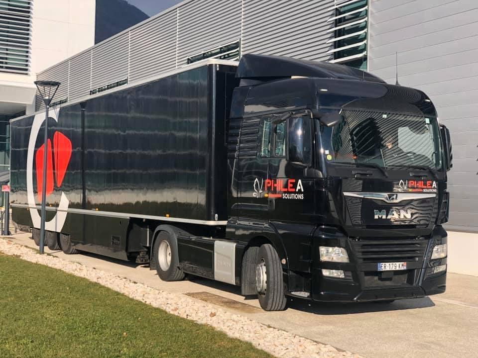 Stop & Go OB truck @ Grenoble for live corporate broadcast